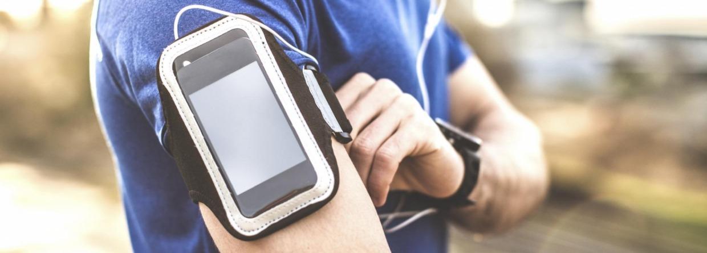 Mobiel gebruiken met sporten